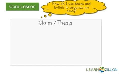 WRITING THESIS STATEMENTS - Sterling College