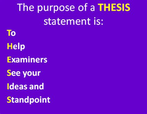 Lessons on how to write a thesis statement